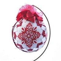 folded fabric star ornament, handmade ornament, christmas tree ornament