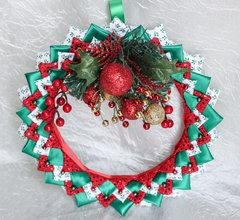 Red & gold sparkle wreath - Christmas