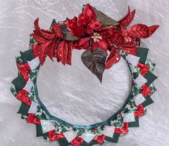 Red Glitter wreath - Christmas decor