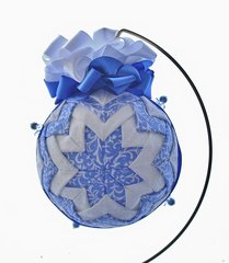 Quilted fabric star ornament - Gentle reminder of Christmas