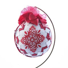 Folded fabric star ornament - Red Star
