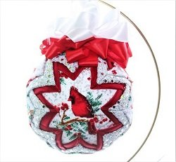 folded fabric star handcrafted ornament