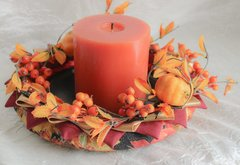 Orange pumpkin centerpiece - Fall decor