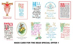 Special Offer Mass Cards (for the deceased)