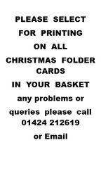 Printing on Christmas folder cards