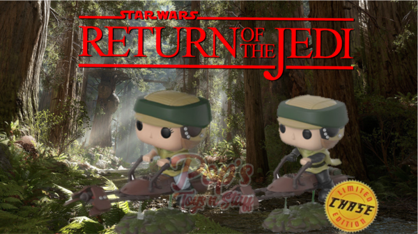 PRE-ORDER Pop! Deluxe: Leia & Luke chase on Speeder Bike