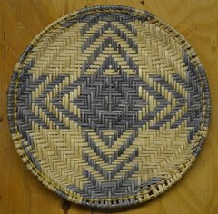 Hand Woven Hopi Four Directions Flat Basket by Dorleen Gashweseoma