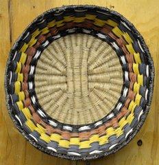 Rare Hand Woven Deep Bend Hopi Wicker Basket by Allie Seletstewa