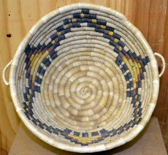 Hand Woven Hopi Clouds and Rain Wicker Basket