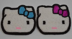Hand Beaded Barrette with Kitty Face Design - Medium
