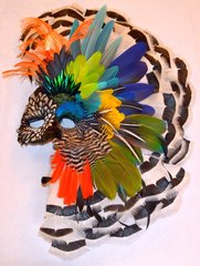 Maiden Feather Mask by Lorra Lee Rose