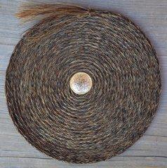 Large Flat Horsehair Braided Basket by David Bendiola