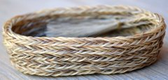 Small Oval Horsehair Braided Basket with Light Hair by David Bendiola