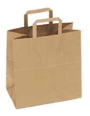 Flat Handled Paper Shoppers
