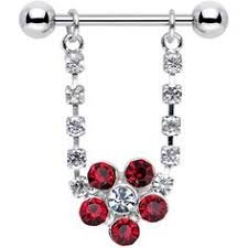 Red Flower Nipple Shield