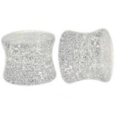UV Acrylic Metallic Glitter Saddle Plug 8g