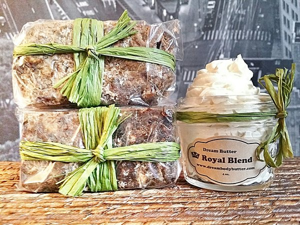 Mix and Match Deals (1) 4 oz Dream Body Butter Jewels & (2) Royal Earth Gold Soap Bars