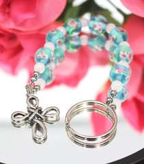 Knotted Cross Key Chain