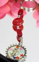 Red Bottle Cap Key Chain