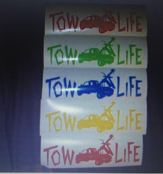 Tow Life Window Sticker