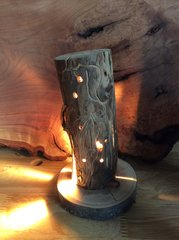 Worm Wood night light sculpture #4 SOLD
