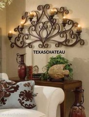 TUSCAN FRENCH COUNTRY STYLE IRON SCROLL WALL CANDLE HOLDER CANDLEHOLDER SCONCE