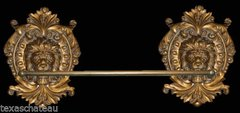 "OLD WORLD ORNATE GOLD 31"" TOWEL BAR / HOLDER RACK FRENCH HOLLYWOOD REGENCY BATHROOM"