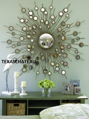 Sunburst Wall Mirror large gold sunburst starburst wall mirror hollywood regency mid