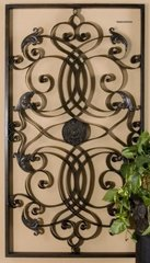 XL LARGE TUSCAN SCROLL WROUGHT IRON METAL WALL GRILLE GRILL WALL ART PLAQUE BIG