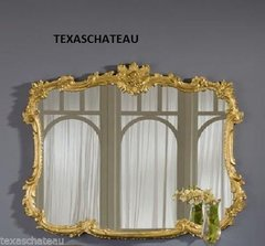 ORNATE GOLD GILT ARCH BUFFET MANTEL MIRROR ANTIQUE FRENCH REGENCY BAROQUE STYLE