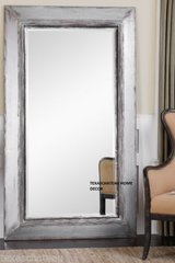XL LARGE SILVER GRAY WALL MIRROR FULL LENGTH DRESSING FLOOR LEANING OVERSIZE NEW
