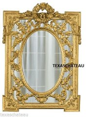 LARGE ORNATE ANTIQUE GOLD LEAF GILT MIRROR FRENCH REGENCY BAROQUE VENETIAN STYLE