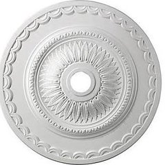 "Elk Lighting Brookdale 582M1008WH9 30"" Ceiling Medallion, White"