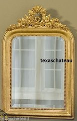 ORNATE ARCH GOLD MIRROR ANTIQUE FRENCH LOUIS PHILIPPE REGENCY VENETIAN STYLE
