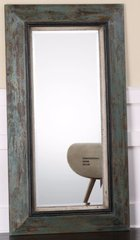 XL LARGE AGED PAINTED WOOD WALL MIRROR FRENCH COUNTRY FARMHOUSE COTTAGE LEANER