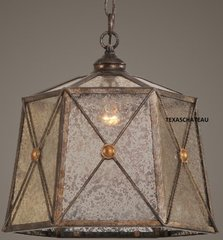 AGED FRENCH COUNTRY TUSCAN BRONZE PENDANT LIGHT FIXTURE MINI KITCHEN CHANDELIER