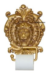 OLD WORLD ORNATE GOLD TOILET PAPER WALL HOLDER FRENCH HOLLYWOOD REGENCY BATHROOM
