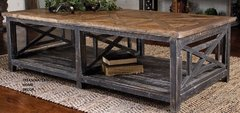 COASTAL RECLAIMED WOOD COFFEE TABLE NAUTICAL BEACH HOUSE COTTAGE DRIFTWOOD