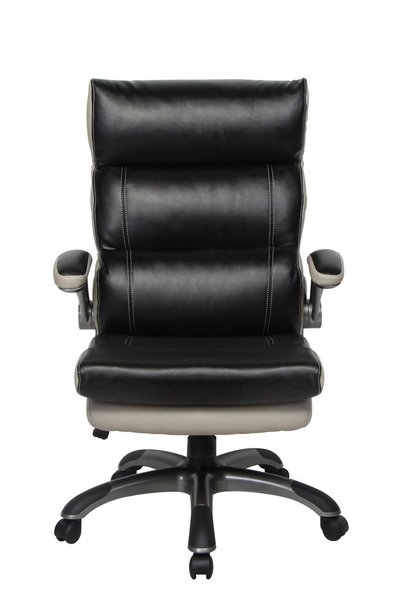 VIVA OFFICE - Thick Padded Leather High Back Office Chair with ...