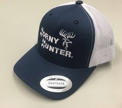 Blue and White Truckers Hat