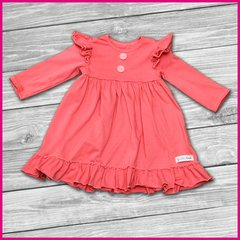 Coral Ruffle Dress