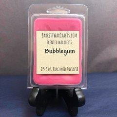 Bubblegum scented wax melt.
