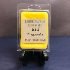 Iced Pineapple scented wax melt.