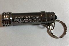 Barrett Wax Crafts gunmetal keychain LED flashlight