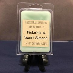 Pistachio & Sweet Almond scented wax melt