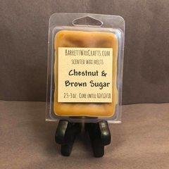 Chestnut & Brown Sugar scented wax melt.