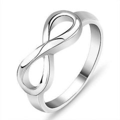 Sterling Silver Infinity Ring Size 6