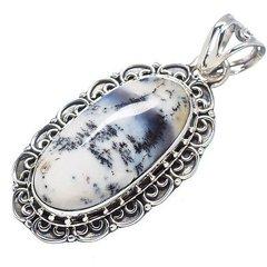 Dendritic Opal 925 Sterling Silver Pendant