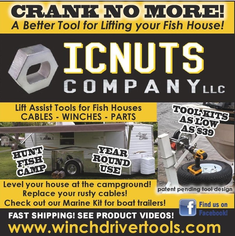 Customer service icnuts company llc cordless drill winch for Ice castle fish house parts