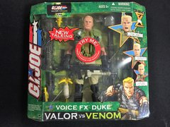"G.I. Joe 12"" Voice FX Duke Valor vs Venom 2004 Hasbro Figurine Set"
